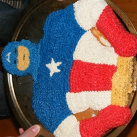 Captain America This cake was for my son's 12th birthday.
