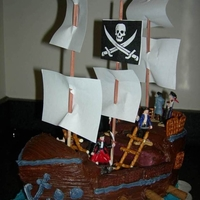 Pirate Ship this was the second pirate ship I made...came out better.
