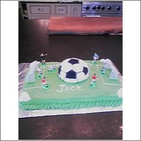 Soccer Cake I made this this cake for my grandson's 4 birthday!