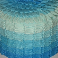 Blue Ombre Cake blue ombre cake for a baby shower