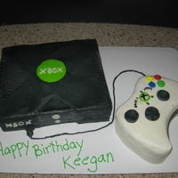 Xbox Cake this is an XBOX cake and controller all made in bc