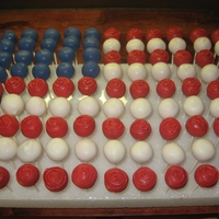 American Flag Cake Pop Arrangement cake pop flag arrangement