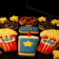 Movie Theater Cookies Sugar cookies with MMF! Thanks for looking!