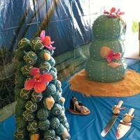Sea Urchin Wedding Cake With Cake Truffle Tower Sea urchin wedding cake with cake truffle tower