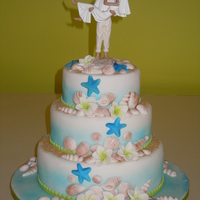 Sea And Sand Theme Wedding Cake SEA AND SAND THEME WEDDING CAKE.........
