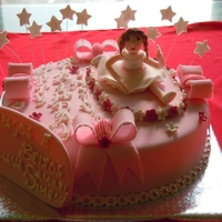 Ballerina Cake A CAKE THT I MADE FOR A 12YR OLD WHO LOVES DANCING