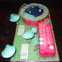 Swimming Pool Cake MADE THIS CAKEIN THE SHAPE OF A NUMBER 9 FOR MY DAUGHTERS NINETH B'DAY.....