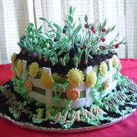 Garden Cake made this cake for a 10yr old who loves gardening