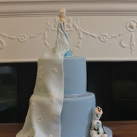 Elsa And Olaf My frozen cake. Wanted to do something a little different :)