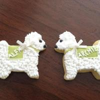 Dog Wedding Favors Maltese dogs Alfie & Archie
