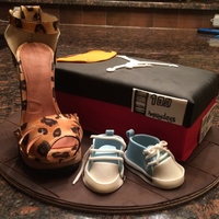 This Was A Surprise Cake For A Friend Who Just Had An Addition To The Family There Is Something To Represent Mom Dad And Baby The Shoe  This was a surprise cake for a friend who just had an addition to the family. There is something to represent Mom, Dad and Baby. The shoe...