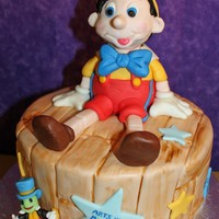 My Little Wooden Cake My daughter performed in a production of Pinnochio in a local theater group. I did this cake for their last performance. WASC covered in...