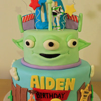 Aiden's Toy Story Cake My friend saw a picture of a cake made by Sandralita here on CC and insisted that I make it for her son. This is my rendition. Thanks for...