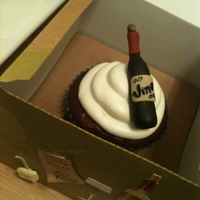 Napa Each guest on the wine tasting tour received an individually boxed custom made cupcake with fondant wine bottle topper