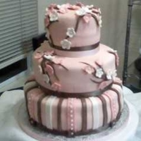 Elayna's Cake Baby girls cake designed to match the nursery decor