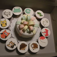 Animal Friends Cake And Cupcakes