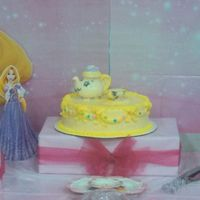 Princess Theme Birthday Toppers for cakes are molded white chocolate and pulled sugar.