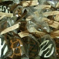 Animal Print Cookes   decorated in royal icing on chocolate sugar cookies