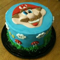 Mario Cake Butter cream cake with fondant accents