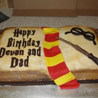 Harry Potter Birthday I had a lot of fun doing this open book cake! Thanks for all the inspiration on here! I did 2-10 inch square cakes and then shaved them...