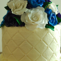 My First Wedding Cake My cousin asked if I would do 200 cupcakes for her wedding and a small cake for the cutting photos, she left the design up to me and this...