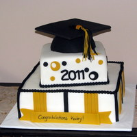 High School Grad Cake This was a pretty stressful cake. I don't do wedding cakes because I don't want to deal with stressful cakes... but the client...
