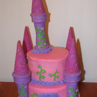 Castle Cake My first castle cake. Was fun. Would like to make a larger one, keep trying to convince my daughter to get it for her next birthday. :) TFL...