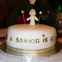 A Savior Is Born My sister -n-law asked me to make a simple birthday cake for Jesus.