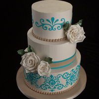 Another Wedding all buttercream, flowers and designs are gumpaste