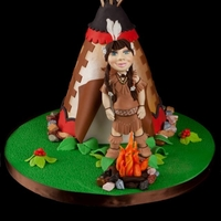 Native American Girl Birthday Cake A very special Native American scene for little girl's 6th birthday.