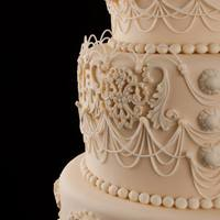 String Work Wedding Cake *