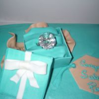 Bridal Shower Ring Box And Belt Cake