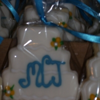 Bridal Shower Cake Cookies Royal Icing
