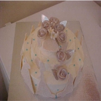 Bridal Shower Cake Fondant,Sugared cutouts,sugar pearls