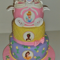 Disney Princess This cake is a vanilla butter cake covered with chocolate ganache and fondant. Thank you to CC for wonderful ideas that you share with...