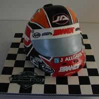 Daytona Helmet This was a cake made for very close friends annual Daytona Party. With the help of their son, who is very good friends with Justin Allgaier...