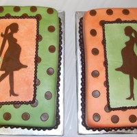 Opposites Attract Made for a baby shower to match the baby's colors. Covered in MMF. Polka dots and silhouette is chocolate MMF.