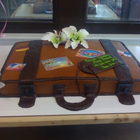 Suitcase Farewell Cake