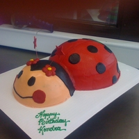 Lady Bug All Buttercream!! Not as good as i wanted it to be, but you only learn from your mistakes :)