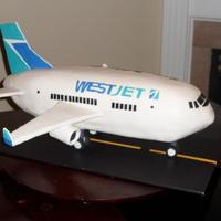 Westjet Airplane  First attempt at an airplane cake ... Many thanks to ChefRoberto for sharing your knowledge and experience. We couldn't have done this...