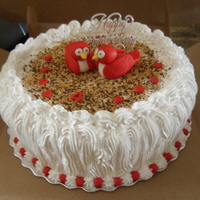 Love Birds Anniversary Cake