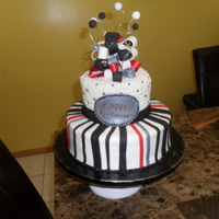 Red And Black Aniversary Cake