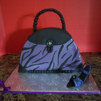 Purple Zebra Handbag