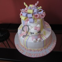 Hello Kitty Hello Kitty Cake for a 2 year old.