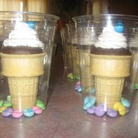 Ice Cream Cupcakes easter treats for my son's class
