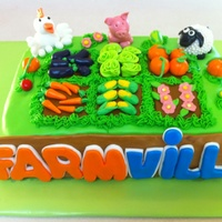 Farmville Cake Wow how fun is this.???