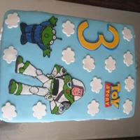 Toy Story Cake  A birthday cake I made for my nephew's third birthday party. He is obsessed with Toy Story and especially Buzz Lightyear. It was a...