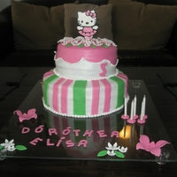 Hello Kitty Ballerina Cake  A Hello Kitty cake made for my friend's daughter's fifth birthday. She loves ballet and Hello Kitty. It is chocolate cake with...
