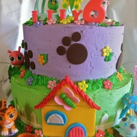 Little Pet Shop My daughter's birthday cake.Decorations are from fondant.Inspiration came from this site, it is lots of very cute cake!