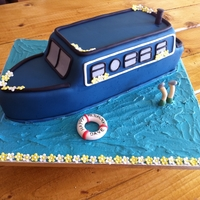 Canal Barge/boat Cake Canal Barge Boat cake!